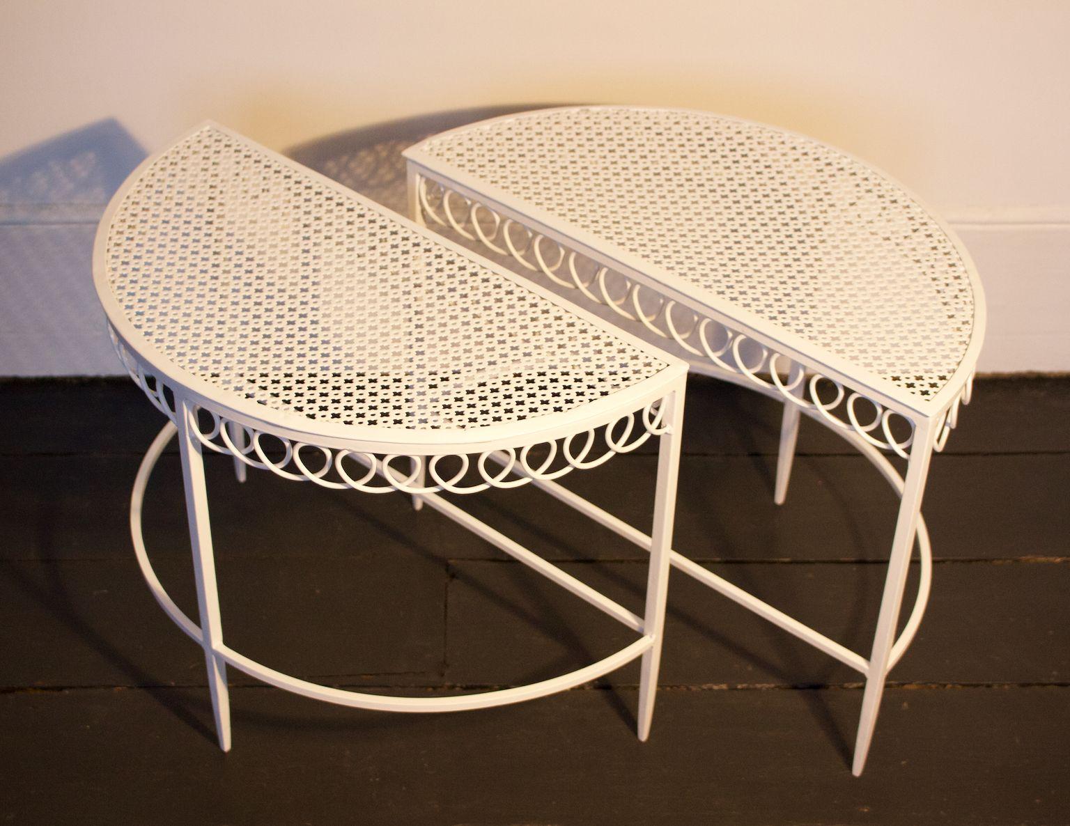 vintage halbmond tische von mathieu mat got 2er set bei. Black Bedroom Furniture Sets. Home Design Ideas