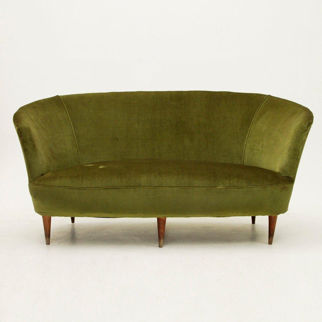 Canap en velours vert italie 1940s en vente sur pamono for Canape velours vert