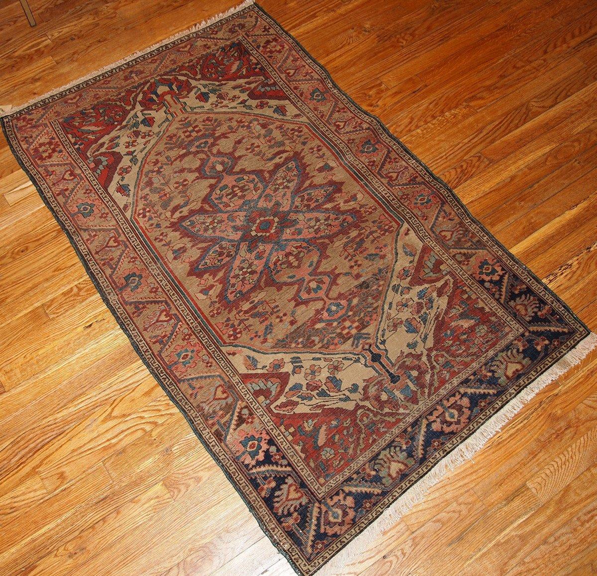 antiker persischer handgemachter sarouk farahan teppich. Black Bedroom Furniture Sets. Home Design Ideas