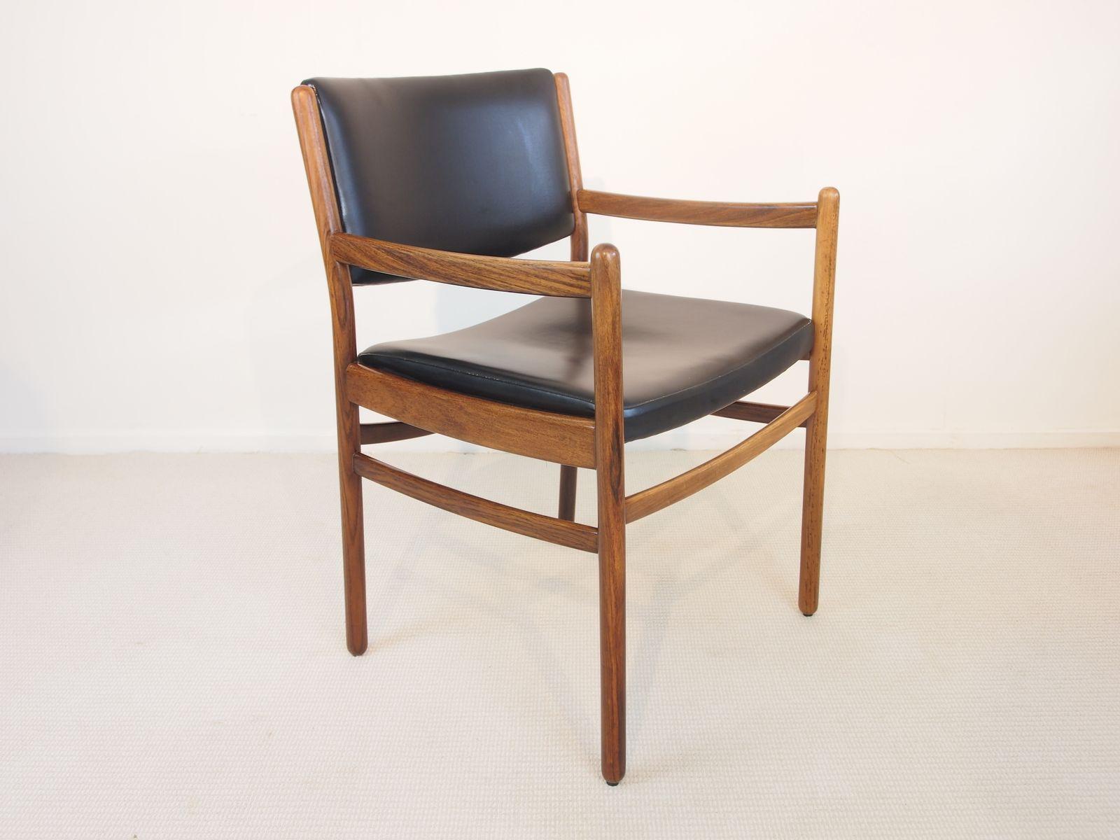Mid century stuhl aus palisander und schwarzem kunstleder bei pamono kaufen - Mid century stuhl ...