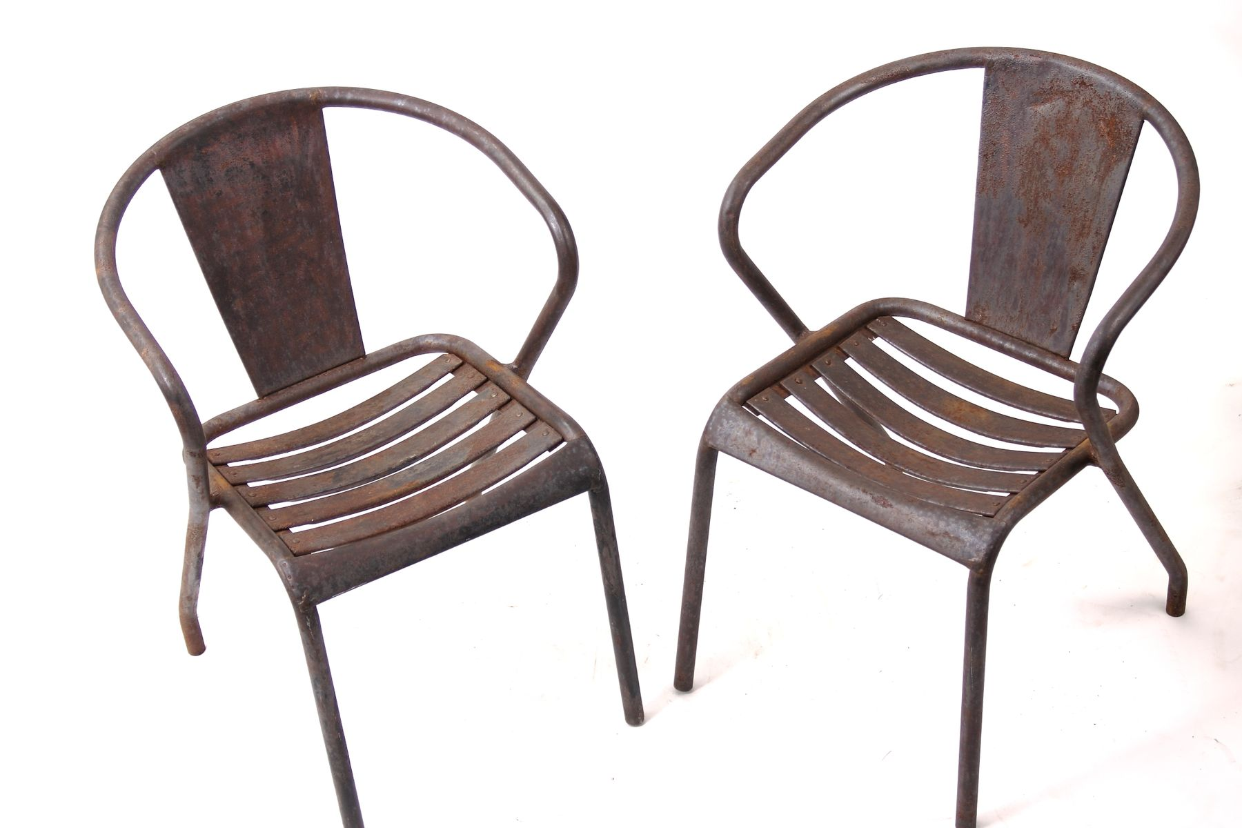 Vintage French Ft5 Bistro Chairs By Xavier Pauchard For Tolix Set Of 5 At Pamono