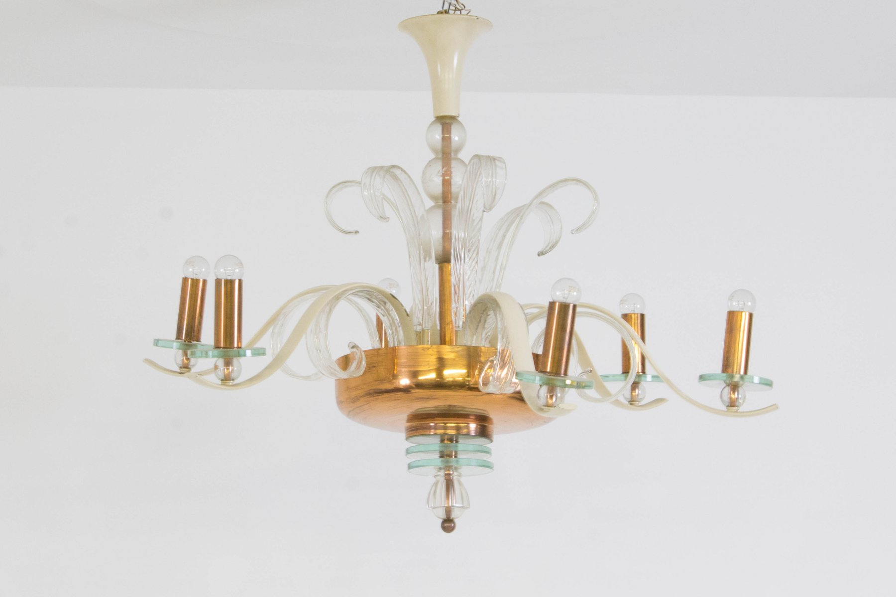 Italian Murano Glass Chandelier 1940s for sale at Pamono
