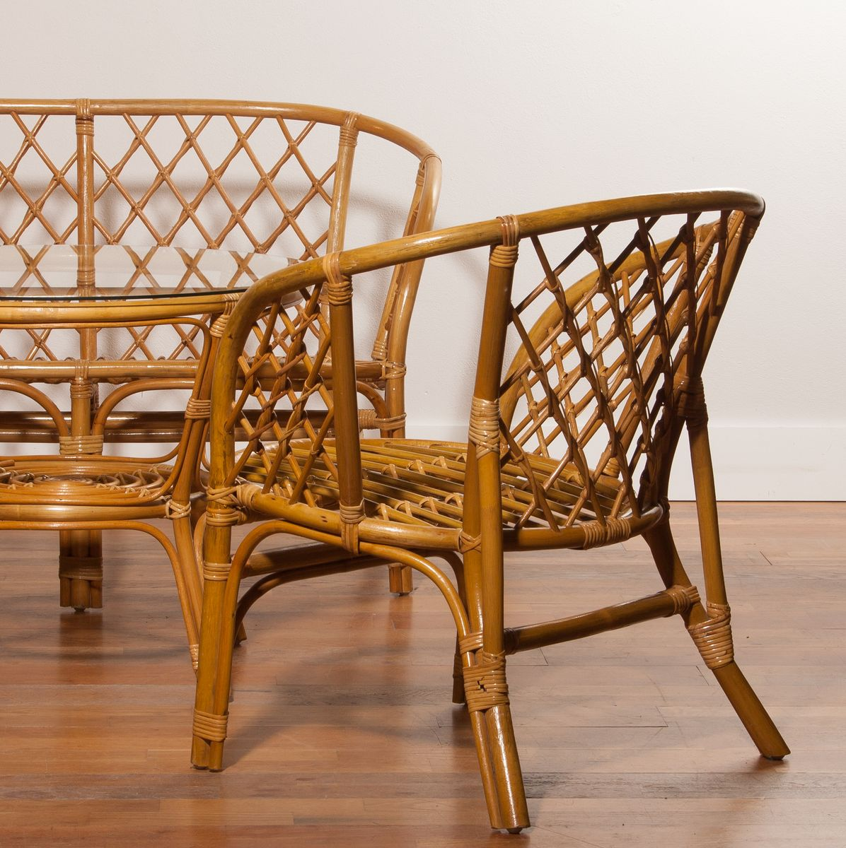 Gartenmöbel aus Bambus und Rattan, 1970er bei Pamono kaufen