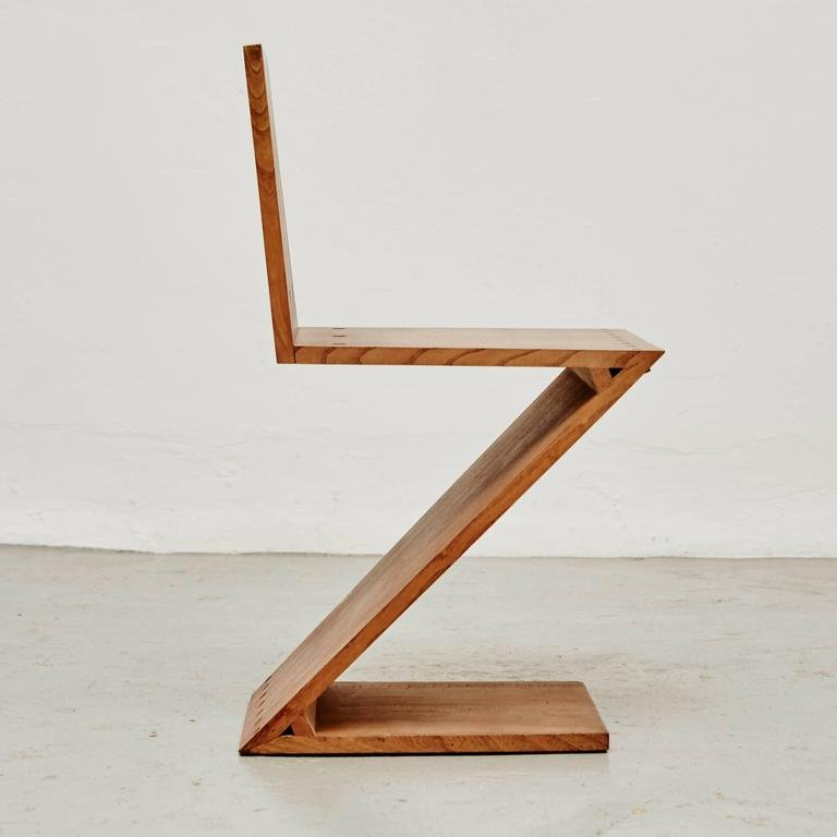 Rietveld Stuhl zig zag chair by gerrit rietveld for metz co 1968 for sale at pamono