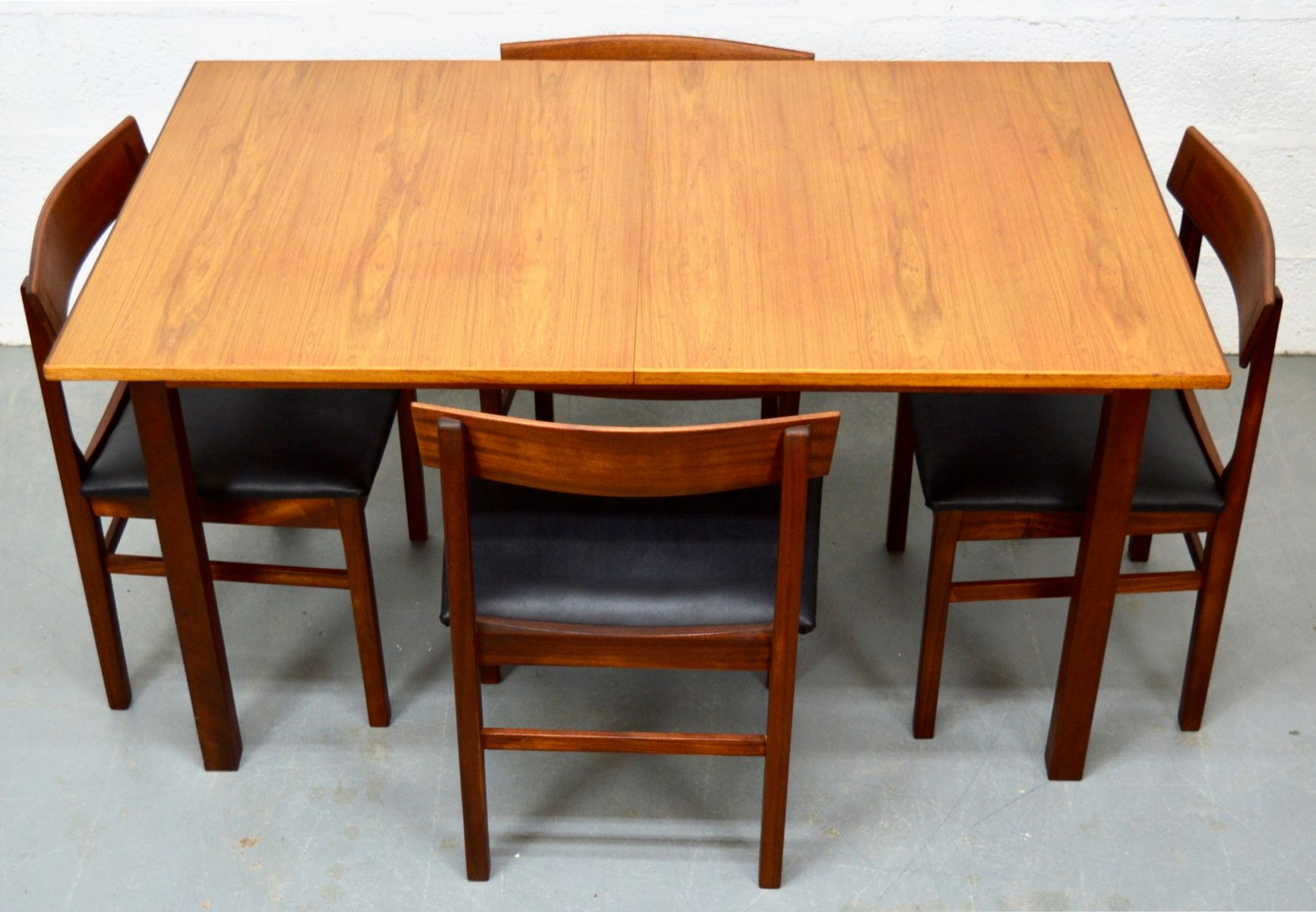 mid century teak tisch und st hle von gordon russell bei. Black Bedroom Furniture Sets. Home Design Ideas