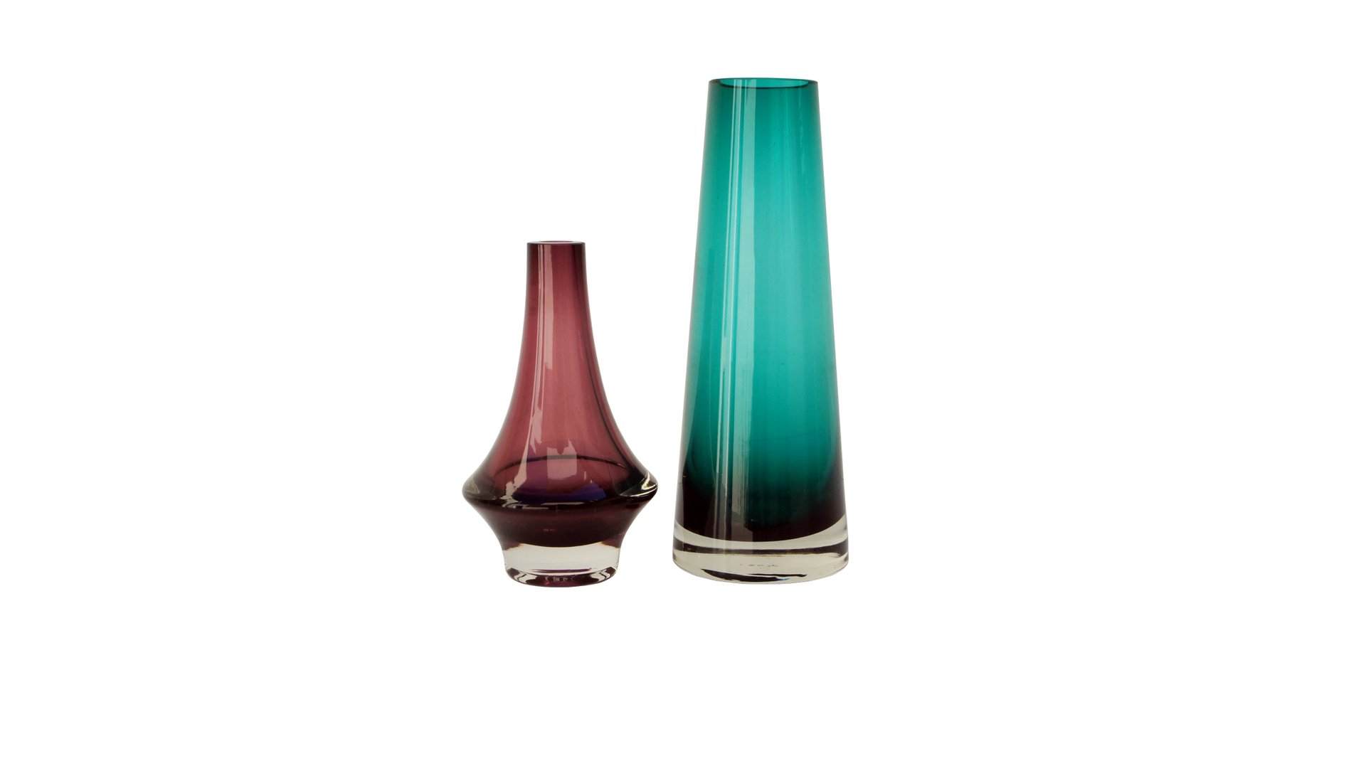 Vintage pink and green glass vases from riihimen set of 2 for vintage pink and green glass vases from riihimen set of 2 floridaeventfo Image collections