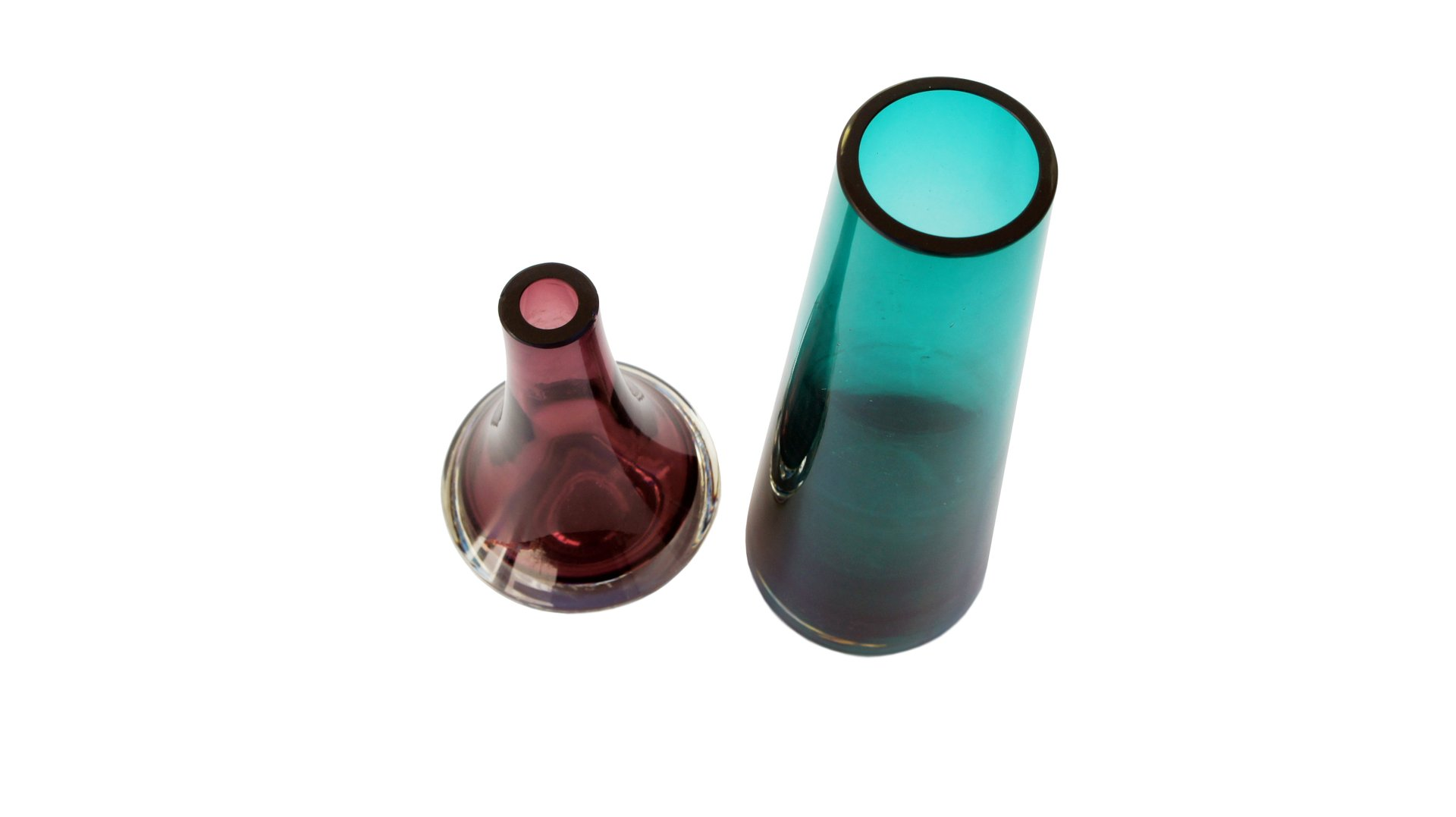 Vintage pink and green glass vases from riihimen set of 2 for previous reviewsmspy