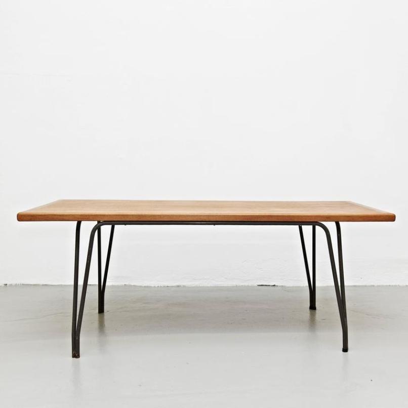 gro er belgischer esstisch 1950er bei pamono kaufen. Black Bedroom Furniture Sets. Home Design Ideas
