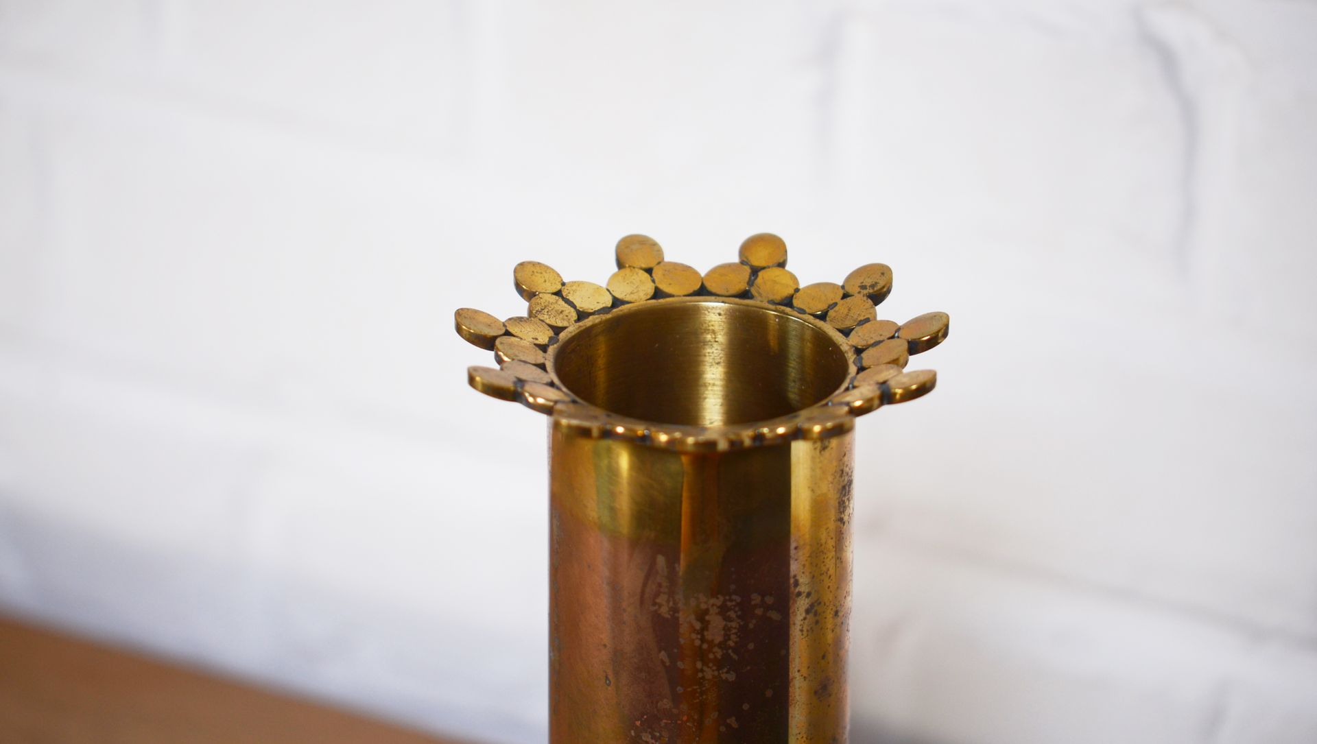 Vintage solid brass crown vase by pierre forssell for skultuna for vintage solid brass crown vase by pierre forssell for skultuna reviewsmspy
