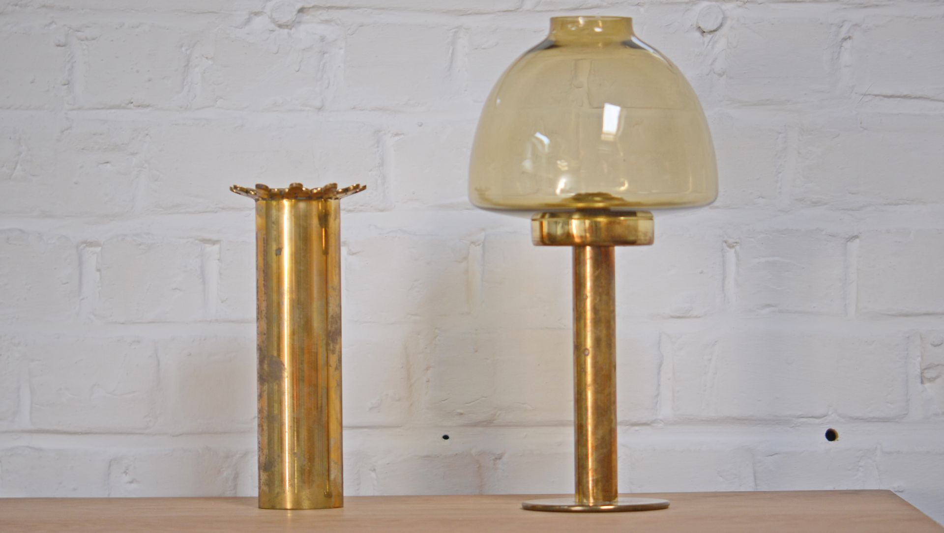 Vintage solid brass crown vase by pierre forssell for skultuna for previous reviewsmspy