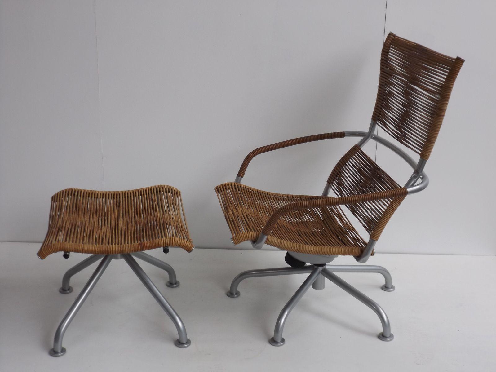 vintage miss b sessel mit hocker von tito agnoli f r pierantonio bonacina bei pamono kaufen. Black Bedroom Furniture Sets. Home Design Ideas