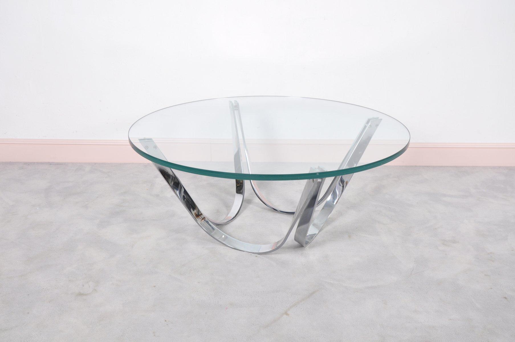 Runder glas couchtisch von roger sprunger f r dunbar for Runder couchtisch glas