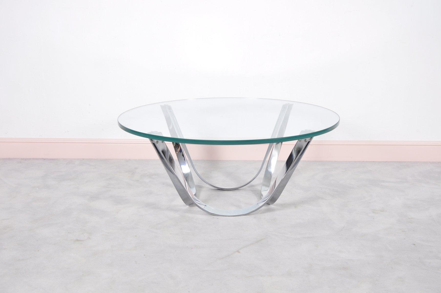 runder glas couchtisch von roger sprunger f r dunbar. Black Bedroom Furniture Sets. Home Design Ideas