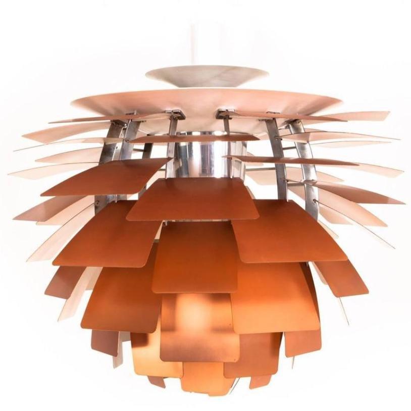 Copper artichoke pendant lamp by poul henningsen for louis poulsen copper artichoke pendant lamp by poul henningsen for louis poulsen mozeypictures Images