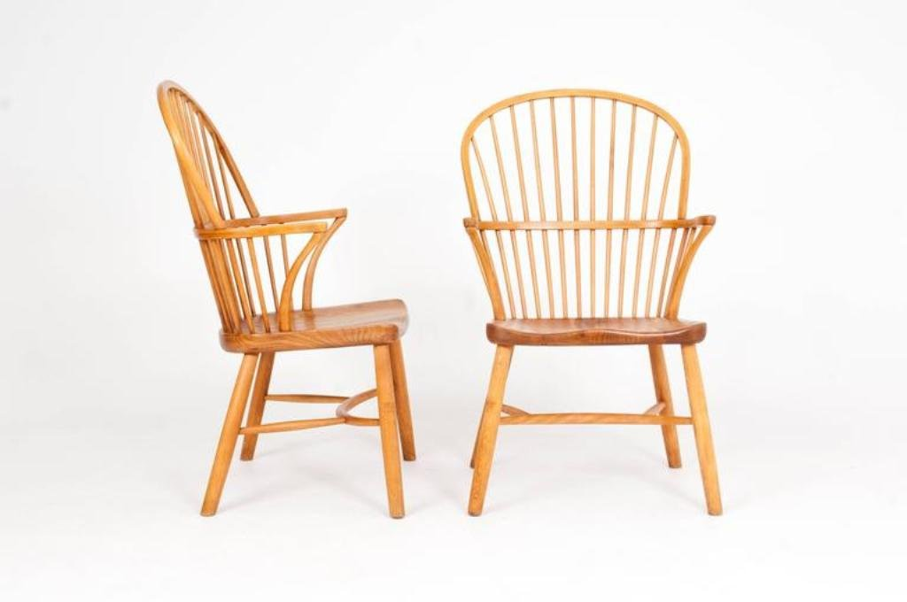 vintage windsor st hle von palle suenson f r fritz hansen. Black Bedroom Furniture Sets. Home Design Ideas
