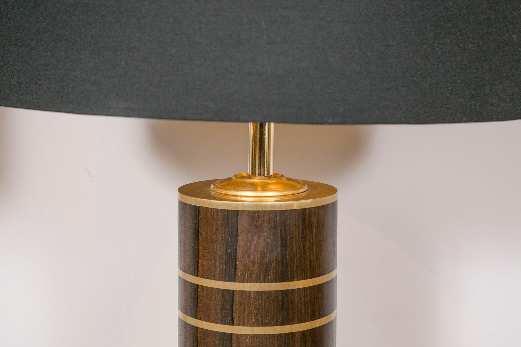 lampen aus mahagoni messing 1980er 2er set bei pamono. Black Bedroom Furniture Sets. Home Design Ideas