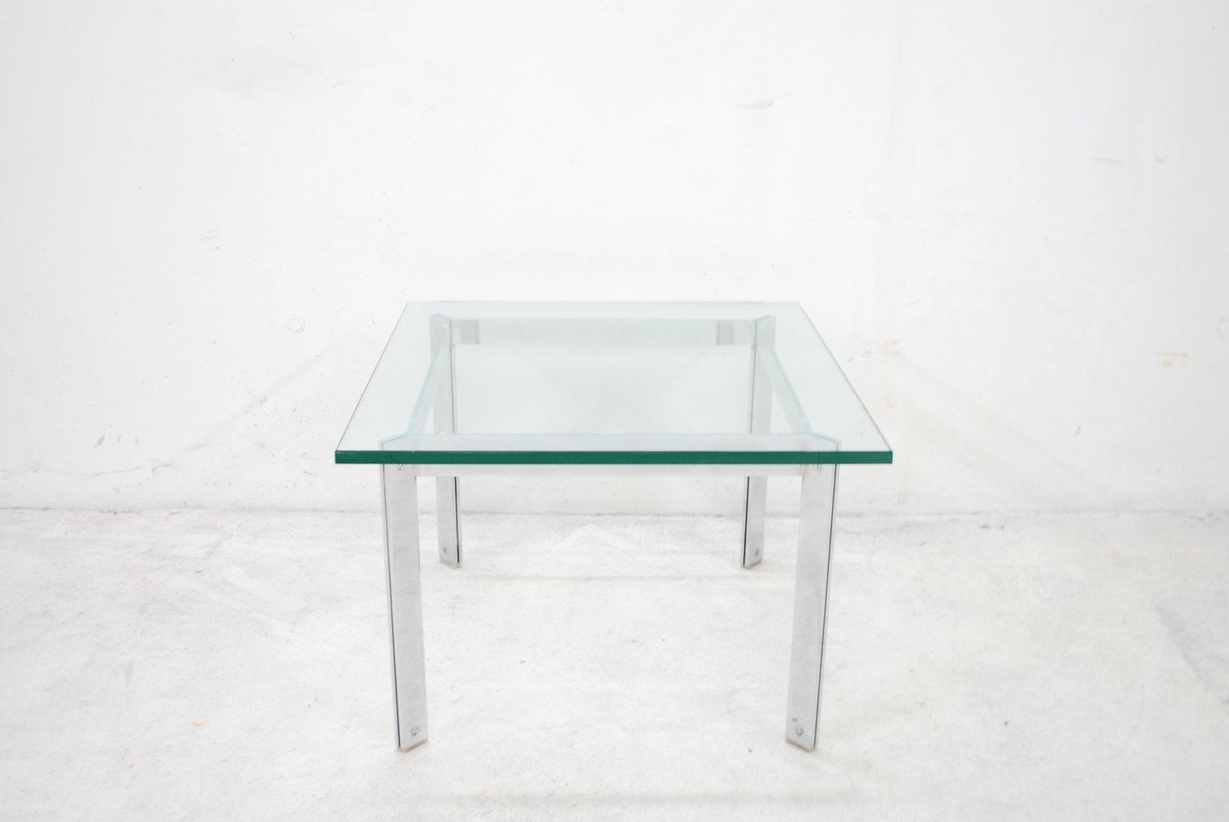 vintage glas chrom couchtisch bei pamono kaufen. Black Bedroom Furniture Sets. Home Design Ideas