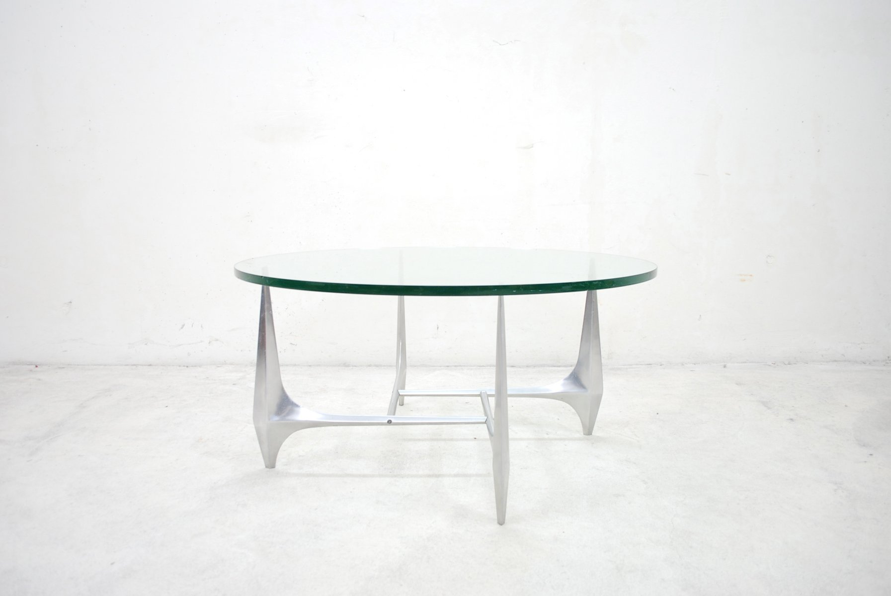 Mid Century Round Sculptural Coffee Table by Knut Hesterberg for