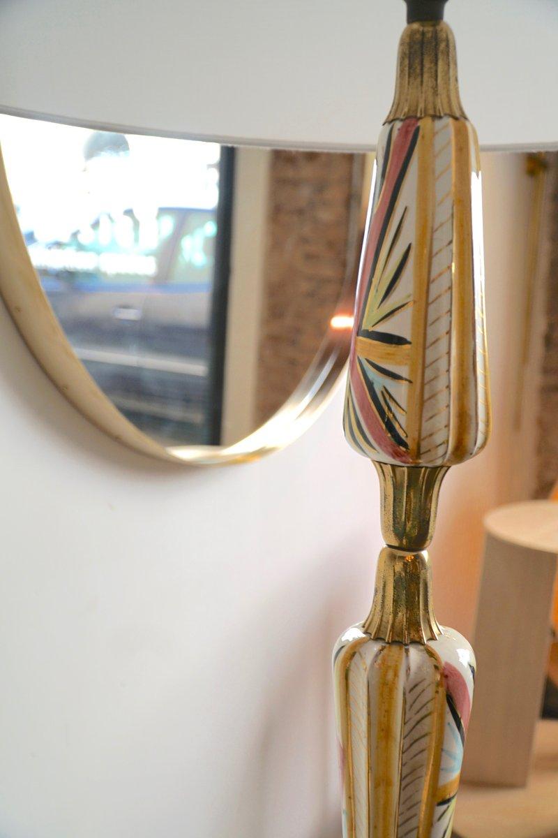 italienische vintage stehlampe aus keramik messing bei pamono kaufen. Black Bedroom Furniture Sets. Home Design Ideas