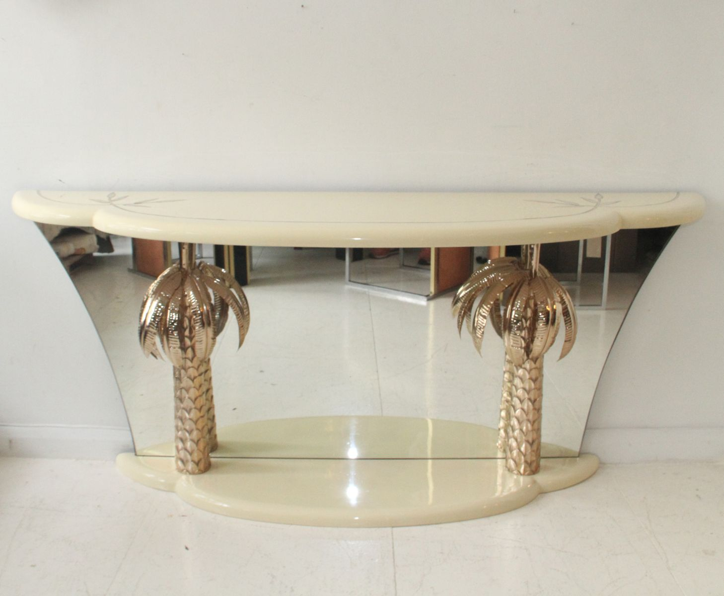 italian lacquer furniture. italian lacquer furniture. vintage and brass palm tree console table for sale at furniture