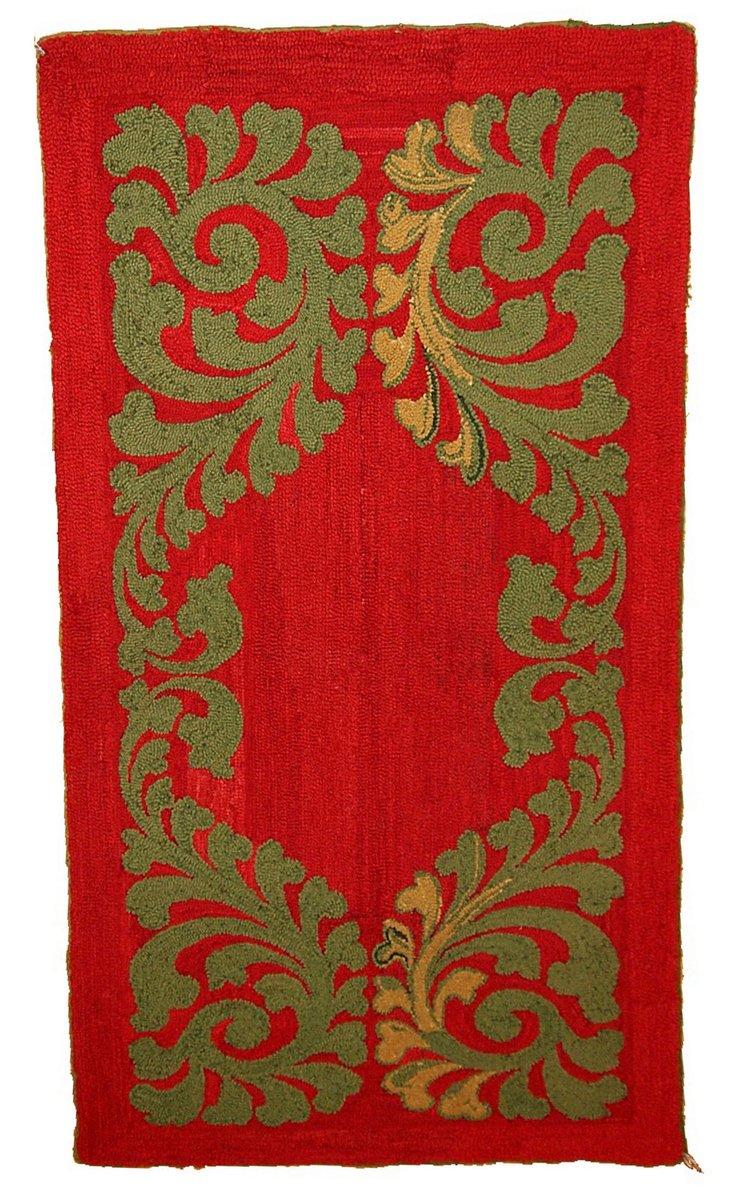 roter handgekn pfter amerikanischer vintage teppich 1920er bei pamono kaufen. Black Bedroom Furniture Sets. Home Design Ideas