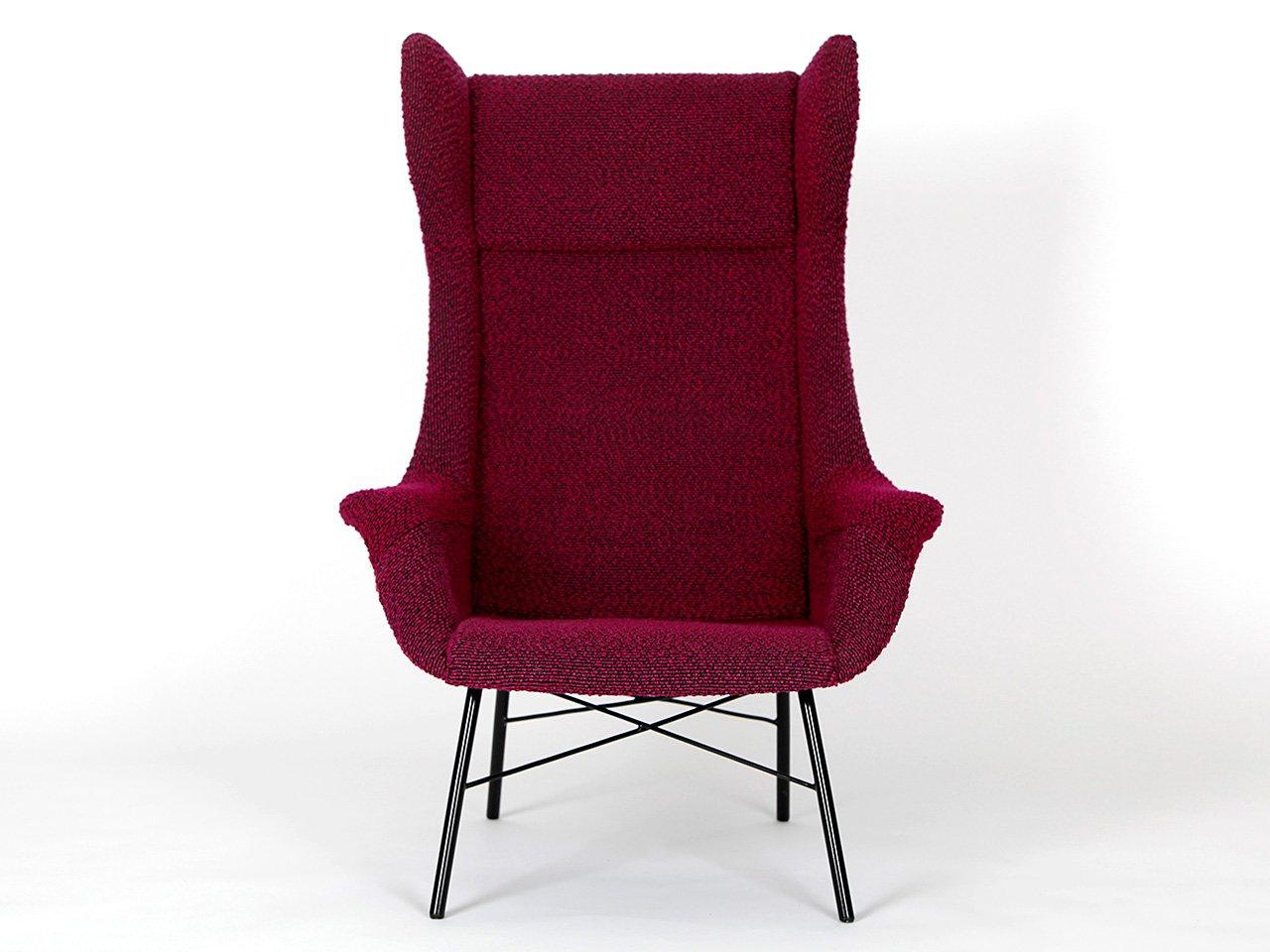 fauteuil oreilles par miroslav navratil pour ton 1960s. Black Bedroom Furniture Sets. Home Design Ideas