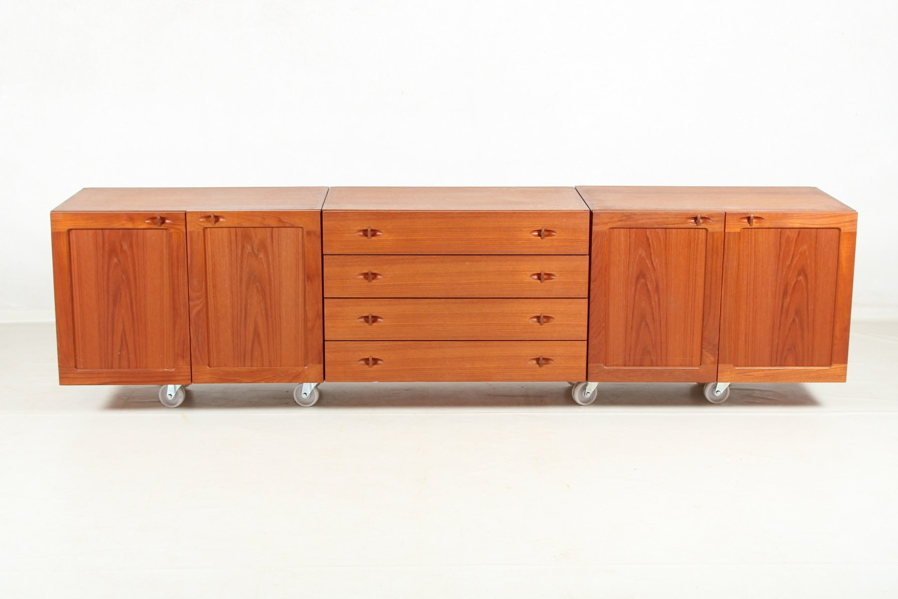 modulares d nisches vintage sideboard in teak furnier bei pamono kaufen. Black Bedroom Furniture Sets. Home Design Ideas