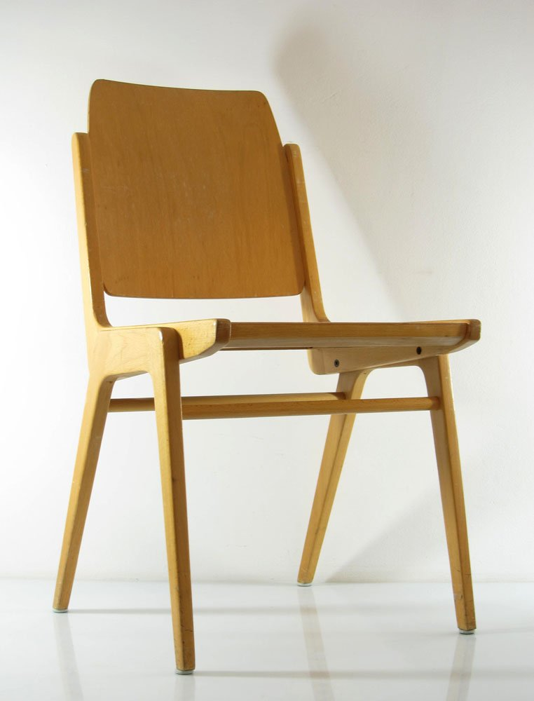 Delightful Vintage Plywood Chair By Franz Schuster For Wiesner Hager