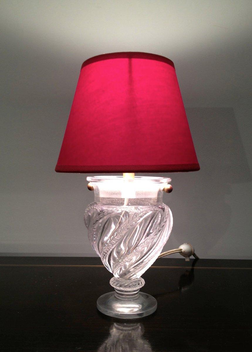 kleine glas tischlampe 1940er bei pamono kaufen. Black Bedroom Furniture Sets. Home Design Ideas