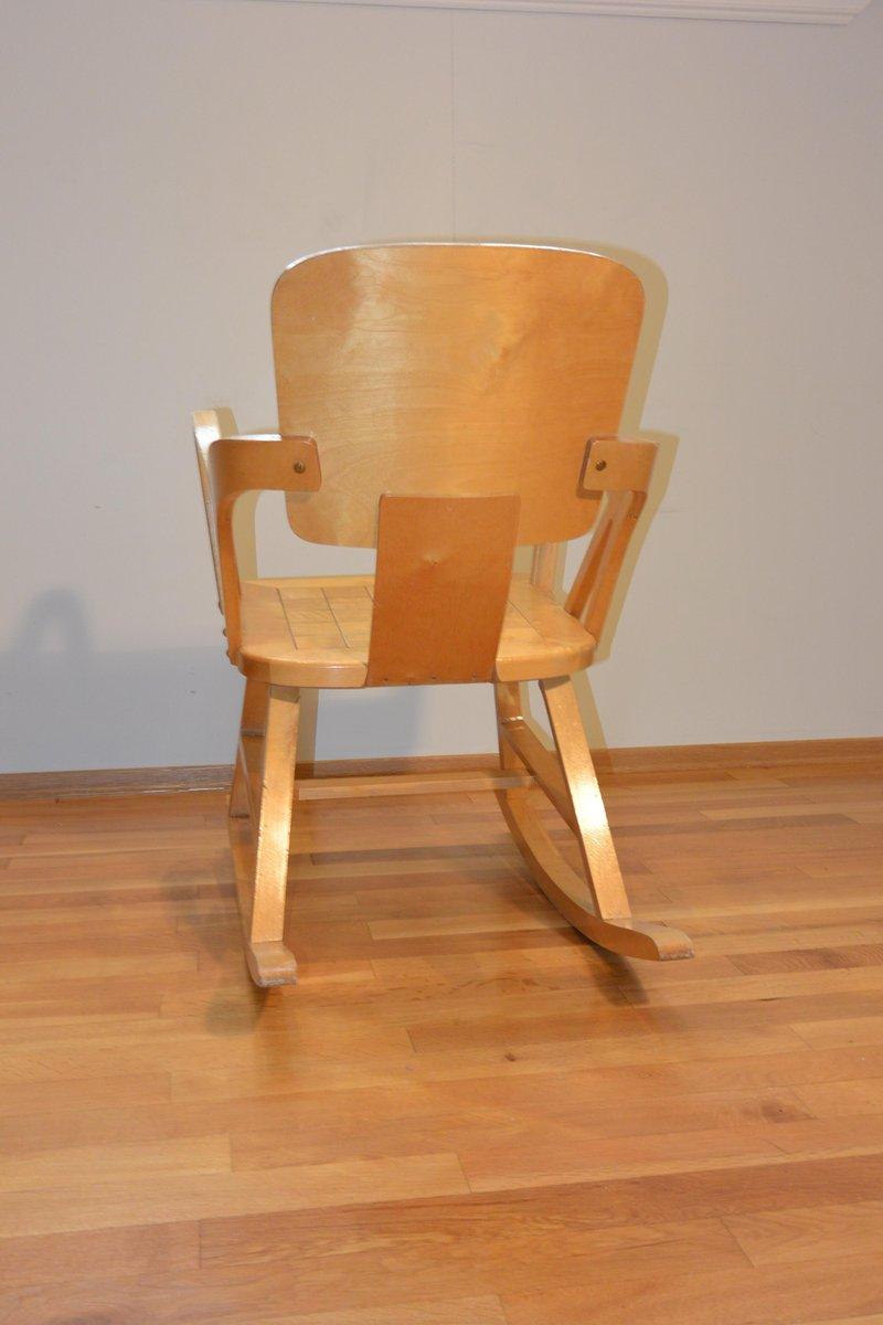 Sedie a dondolo di Per Aaslid, Norvegia, 1952, set di 2 in vendita ...