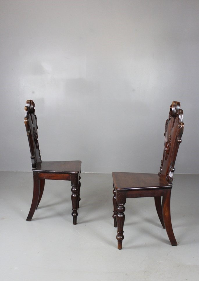 £500.00 - Antique Victorian Hall Chairs, Set Of 2 For Sale At Pamono