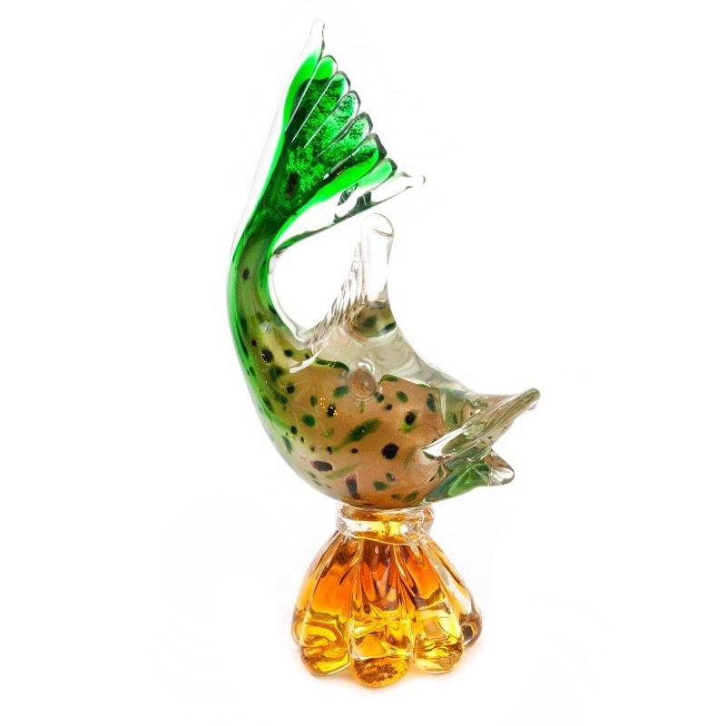 Vintage Murano Glas Fisch Vase bei Pamono kaufen