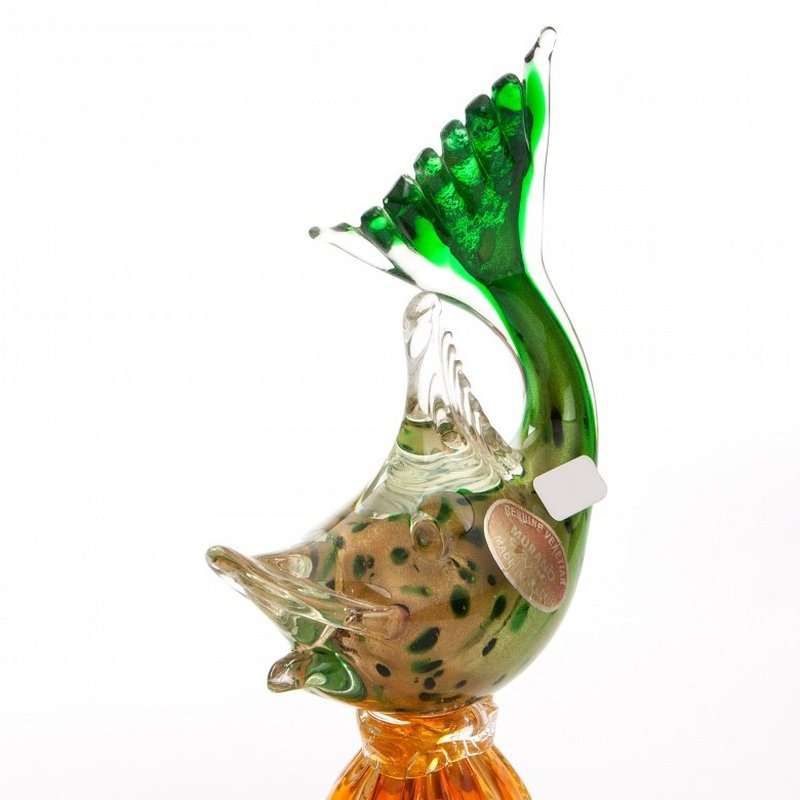 Vintage murano glass fish vase for sale at pamono for Murano glass fish