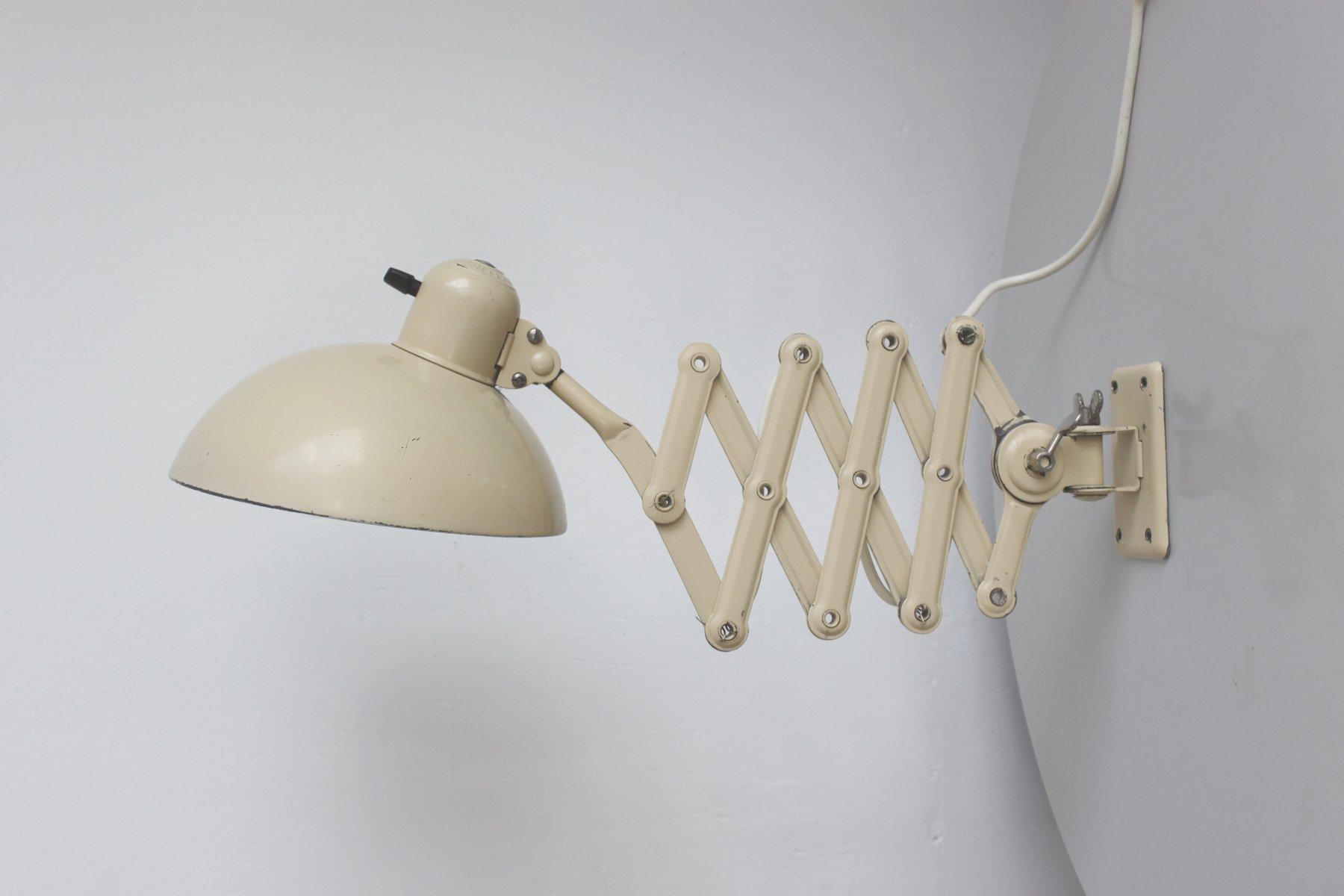 Vintage 6718 Cream White Scissor Lamp By Christian Dell