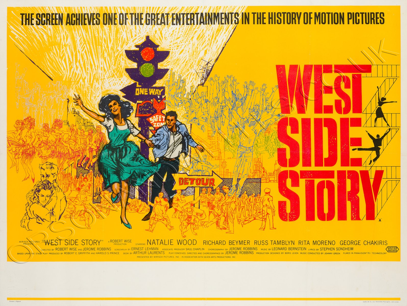affiche de film west side story vintage 1961 en vente sur pamono. Black Bedroom Furniture Sets. Home Design Ideas