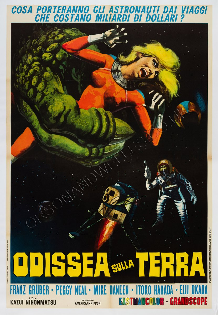 Italian X From Outer Space Film Poster 1969 For Sale At