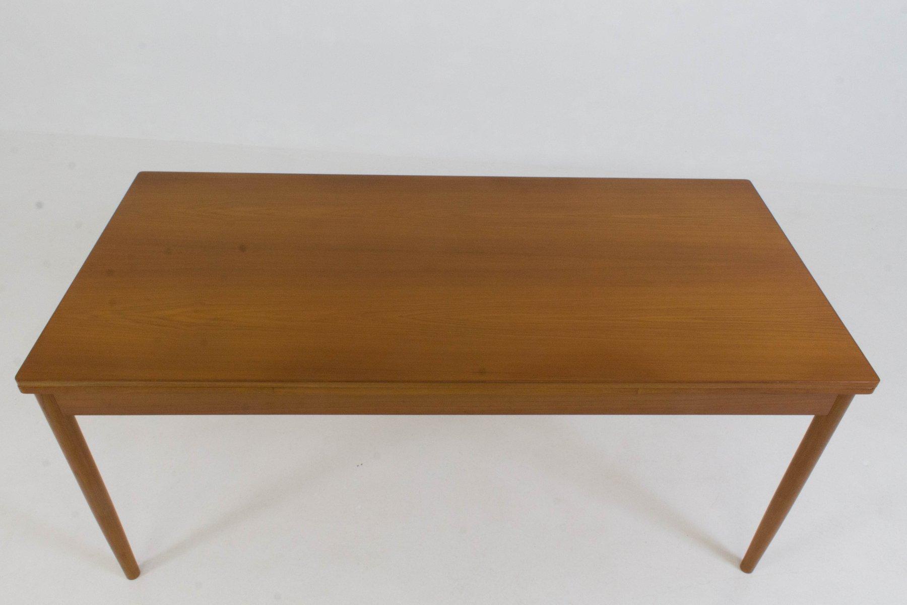 Grande table de salle manger extensible danemark 1960s Grande table de salle a manger