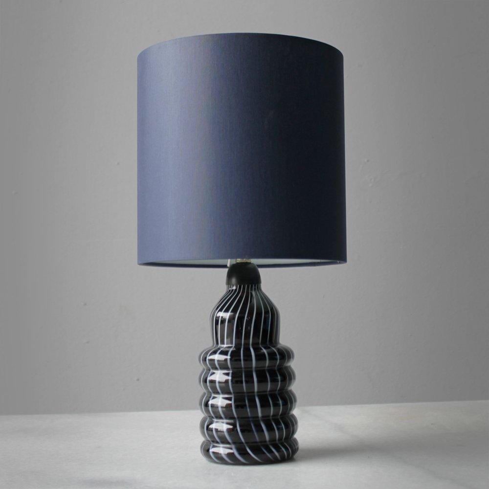 Vintage murano black glass table lamps set of 2 en venta en pamono aloadofball Choice Image