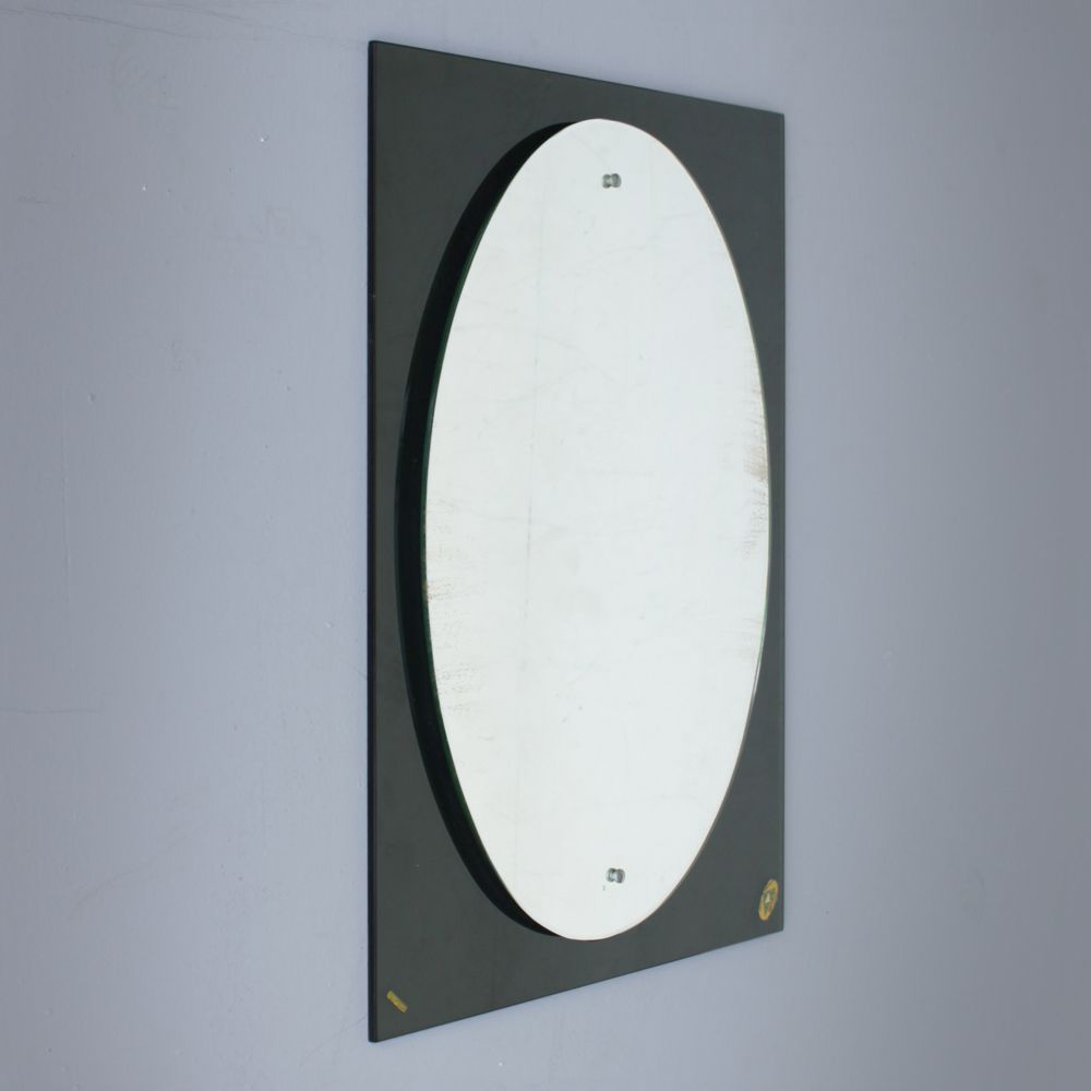 Italian crystal glass mirror 1950s for sale at pamono for Glass and mirror company