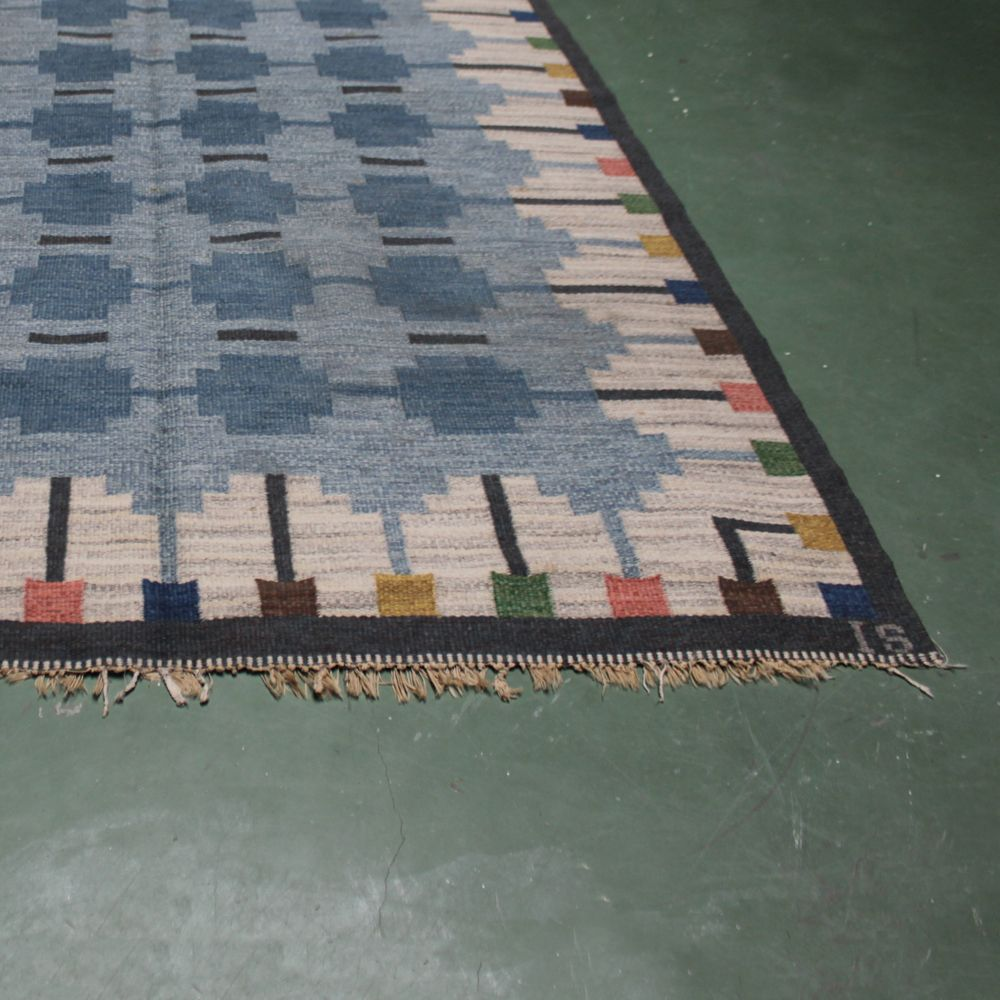 vintage teppich von ingegerd silow bei pamono kaufen. Black Bedroom Furniture Sets. Home Design Ideas