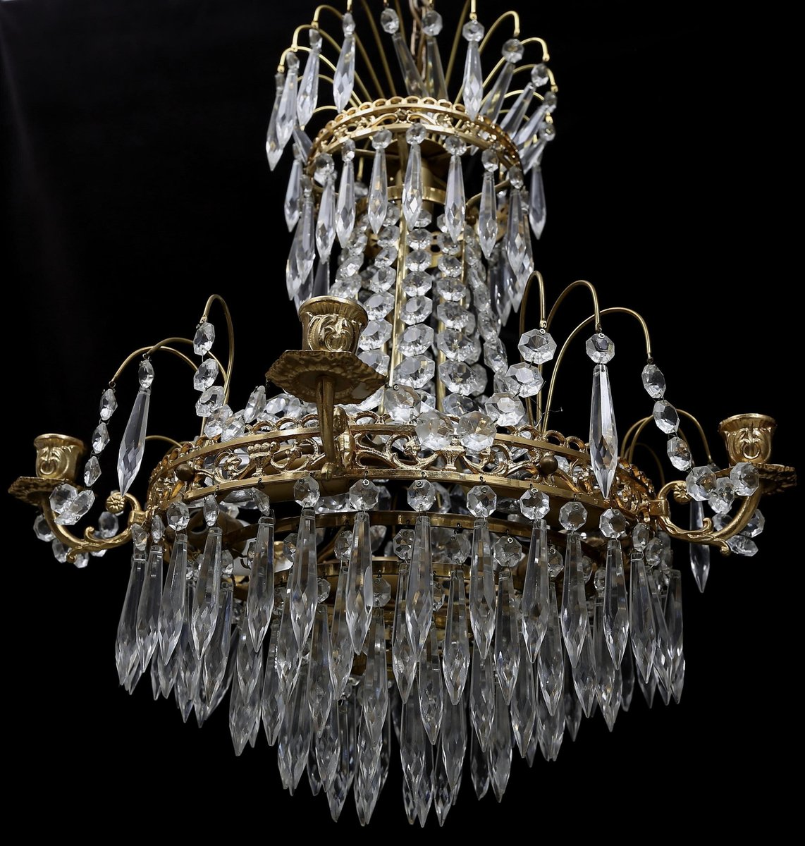 Antique swedish chandelier for sale at pamono antique swedish chandelier 3 previous arubaitofo Image collections