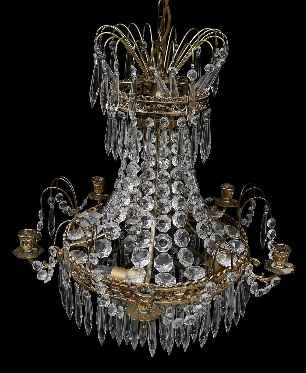 Antique swedish chandelier for sale at pamono arubaitofo Image collections