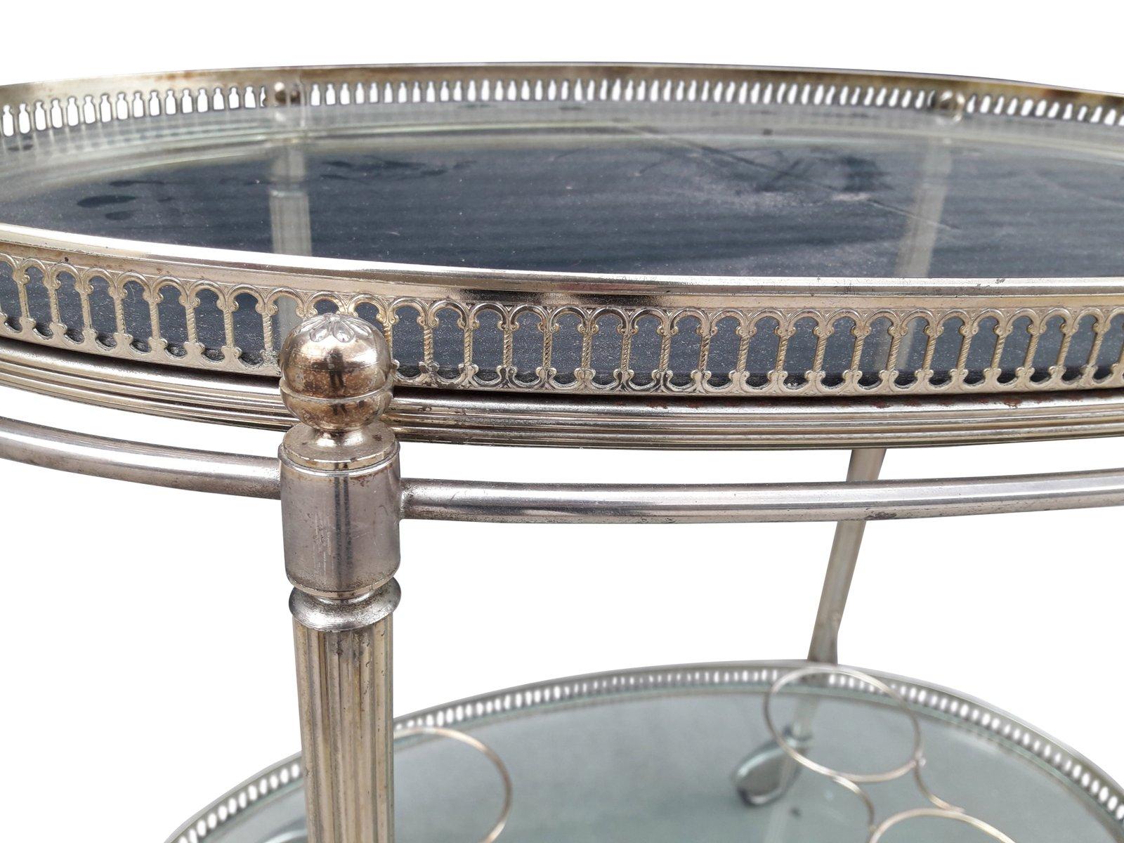 verchromter mid century modern servierwagen bei pamono kaufen. Black Bedroom Furniture Sets. Home Design Ideas
