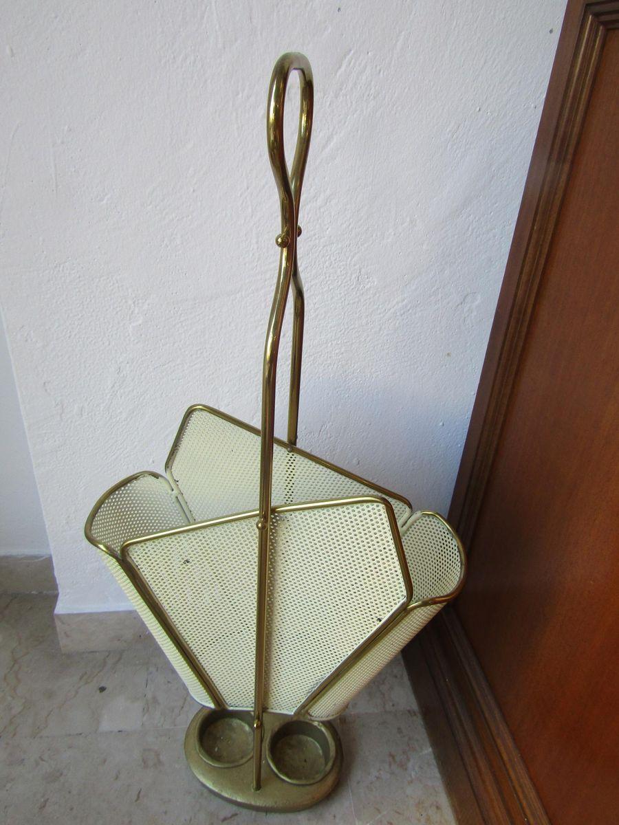 porte parapluies vintage en laiton 1960s en vente sur pamono. Black Bedroom Furniture Sets. Home Design Ideas