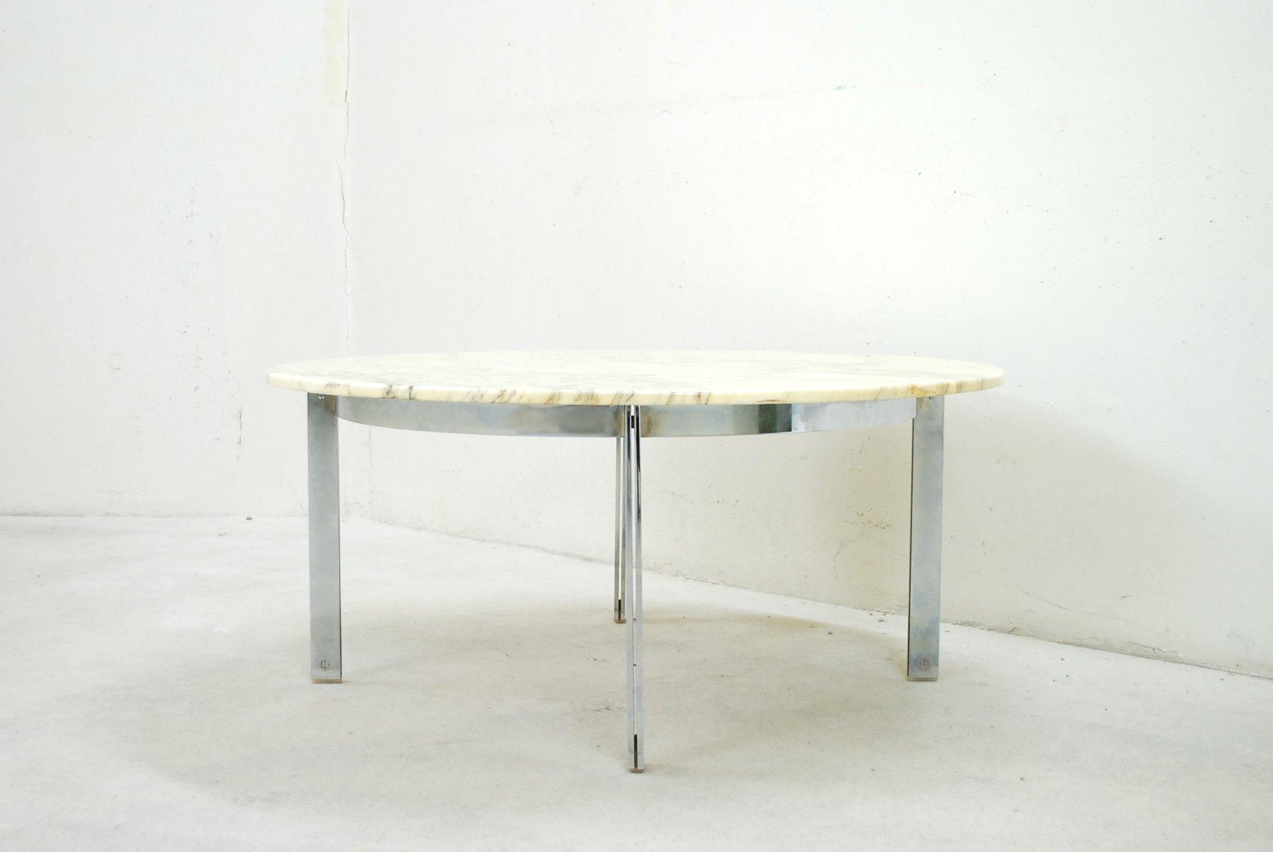 vintage marmor chrom couchtisch bei pamono kaufen. Black Bedroom Furniture Sets. Home Design Ideas