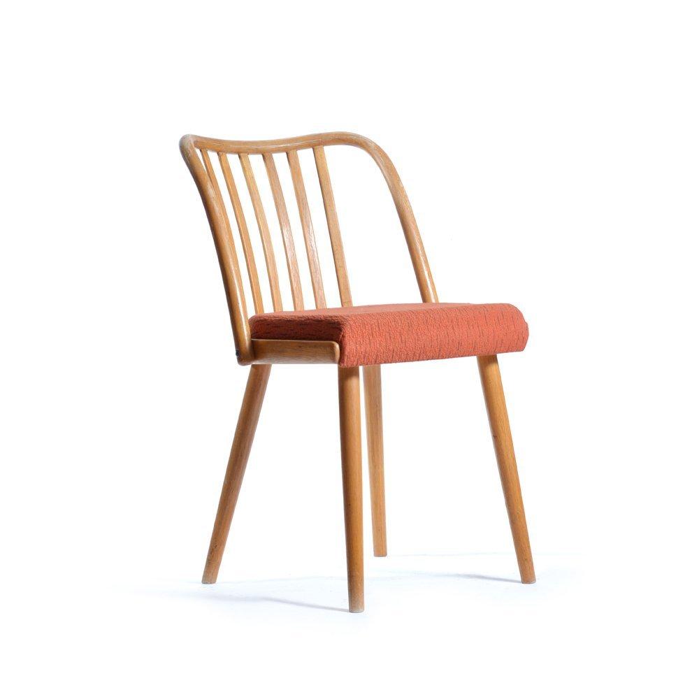 chaise mid century tapiss e par antonin suman pour ton. Black Bedroom Furniture Sets. Home Design Ideas