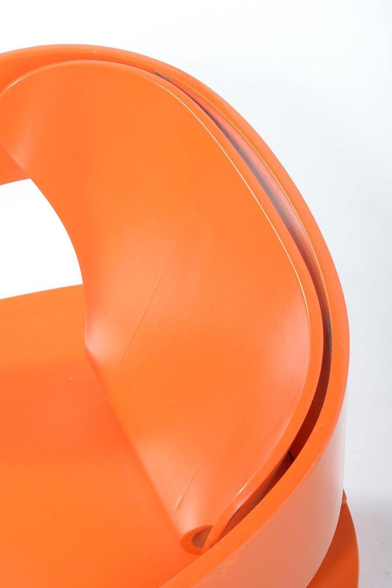 Fauteuil Orange Par Joe Colombo Pour Kartell En Vente Sur Pamono - Fauteuil orange