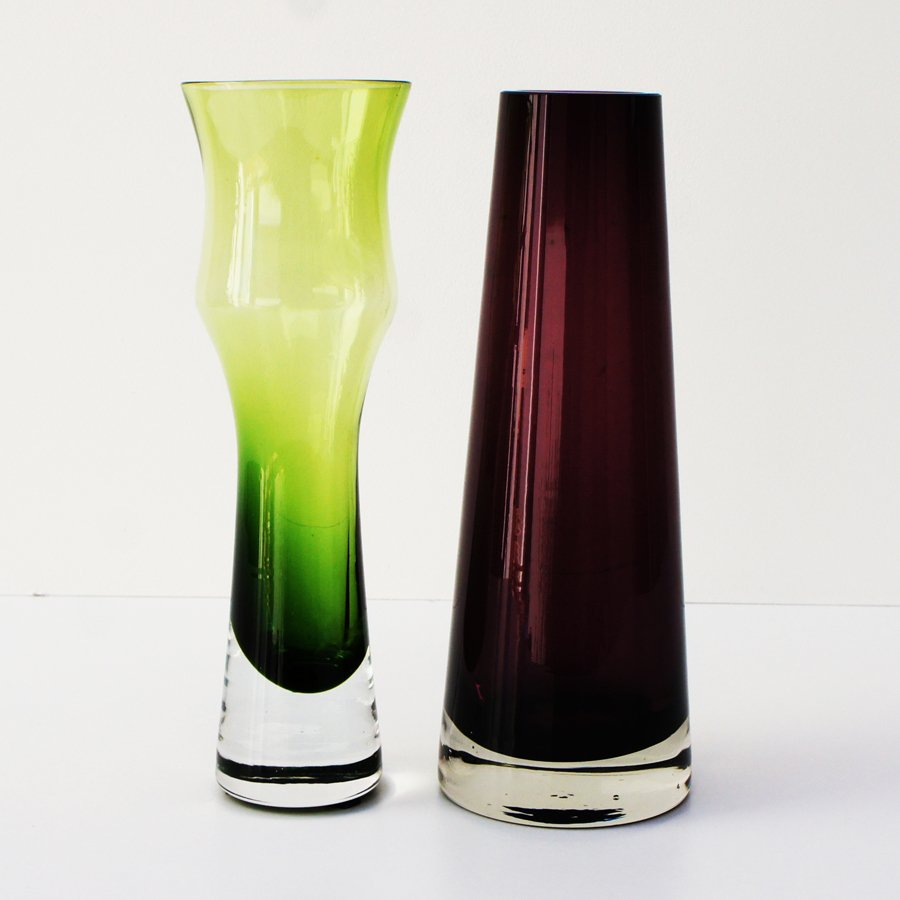 Vintage green and pink glass vases from riihimen set of 2 for vintage green and pink glass vases from riihimen set of 2 floridaeventfo Image collections