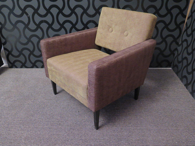 Italienische sessel aus samt in gr n lila 1950er 2er for Sessel lila samt