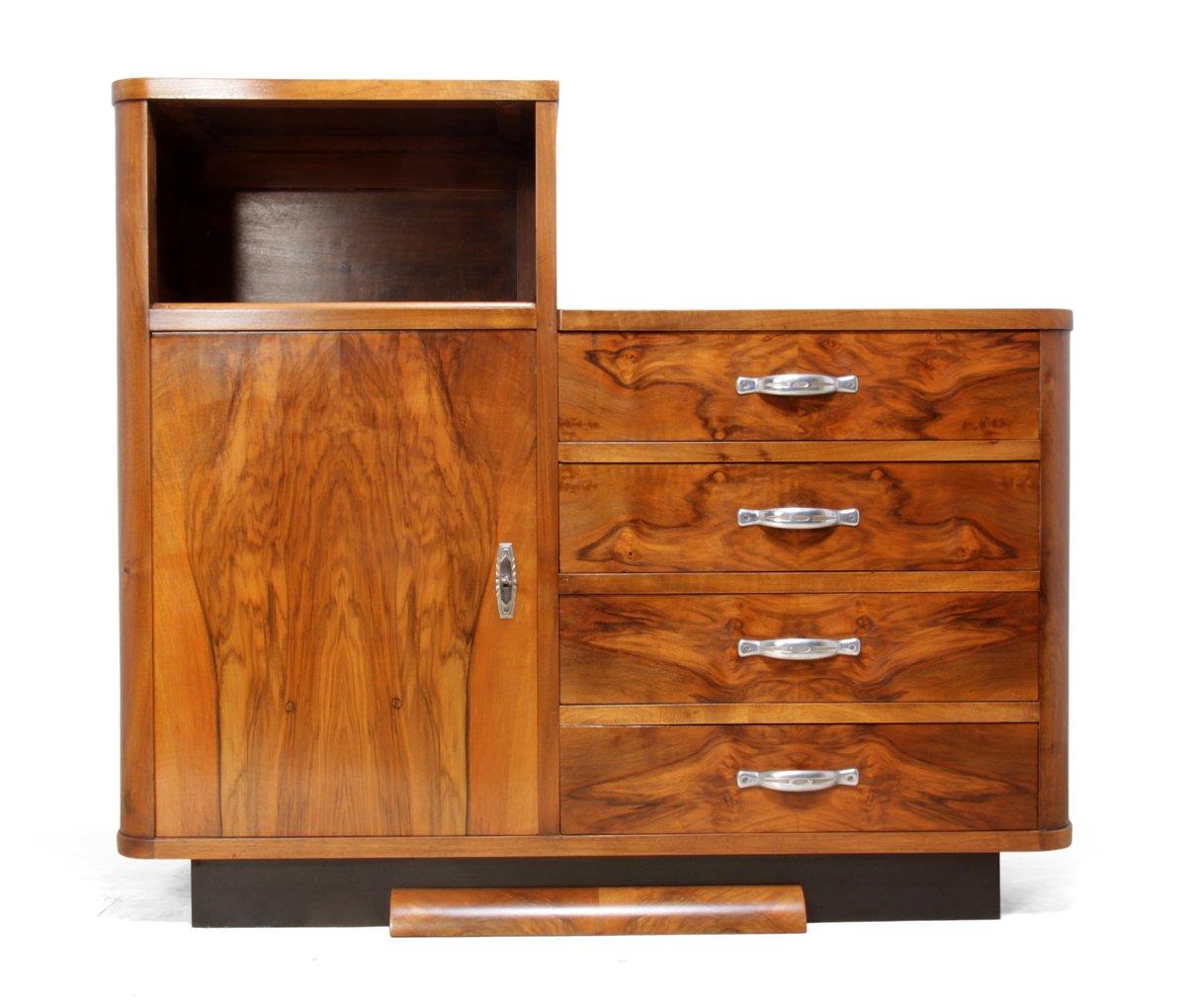 art deco nussholz schrank 1930er bei pamono kaufen. Black Bedroom Furniture Sets. Home Design Ideas